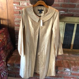 Arden B Luxe silk gold beige jacket